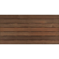 "4′ x 2′ Ipe Wood Tile "" Ribbed image"