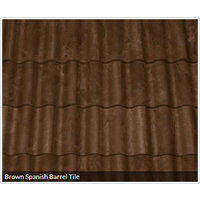 Brown Spanish Barrel Tile image