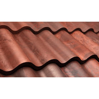 New Aged Terra Cotta Spanish Barrel Tile image