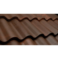 Terra Cotta Brown Spanish Barrel Tile image