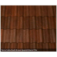 Terra Cotta Dark Brown Spanish Barrel Tile image