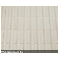 White Spanish Barrel Tile image