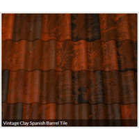 Vintage Clay Spanish Barrel Tile image