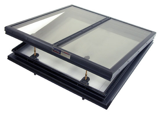 Alumilite Multi-Panel Glass Openable Skylight (Manual)