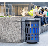 Outdoor  Metal Waste and Recycling Bin image