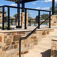 Aluminum Round Handrail Components image