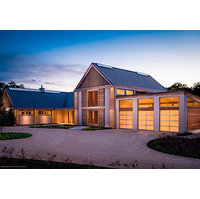Contemporary Glass and Aluminum Garage Door image