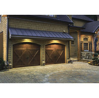 Insulated Wood Carriage House Garage Door  image