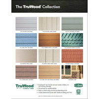 TruWood® Siding Collection and Coverage Chart image