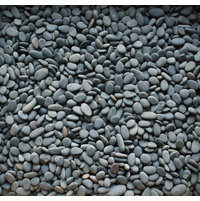 Black Seaside Beach Pebbles image