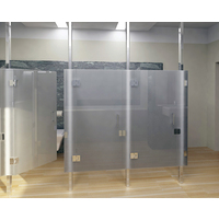 Frameless Glass Restroom Partition System image