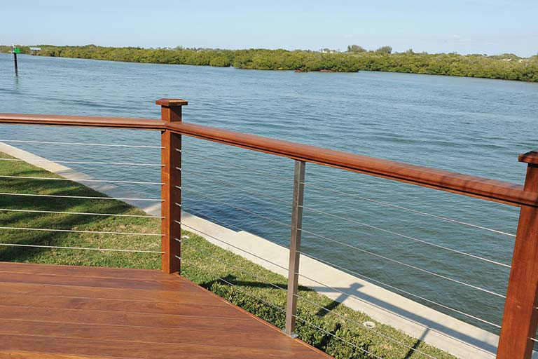 WiseRail® 316 Grade Stainless Steel Deck Cable Railing System