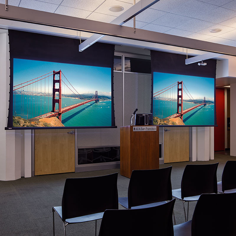 Audio Visual Equipment - Motorized Projection Screens