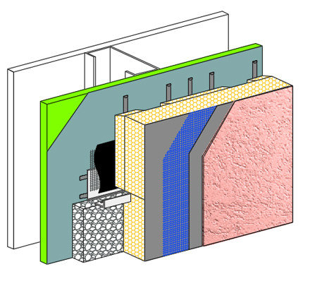Dryvit systems inc continuous insulation eifs for Exterior insulation and finish systems eifs