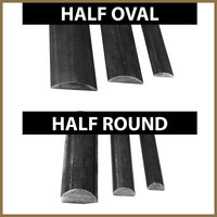 Half Oval and Half Round Bar image