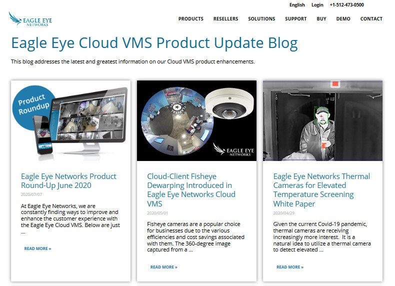 Eagle Eye Cloud VMS Product Update Blog