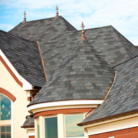 Composite shingles for Fiber cement composite roofing slate style