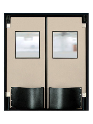 Eliason corp easy swing door div commercial double doors and traffic doors - Commercial double swing doors ...