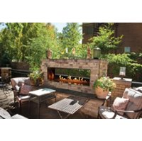 Gas Fireplace - Outdoor Stainless Steel - See-Through - 48/60-inch image