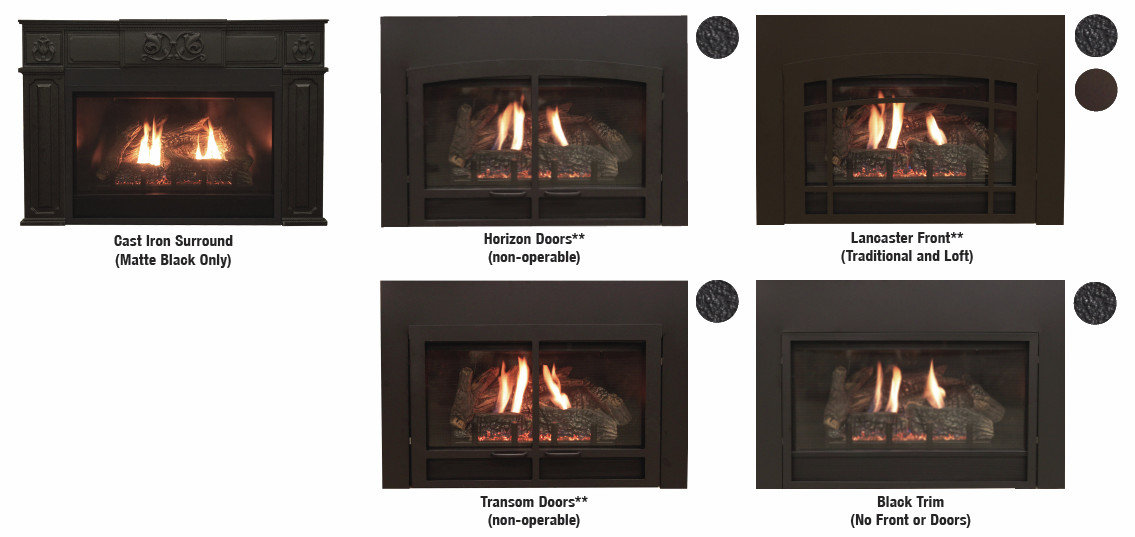 Direct-Vent Fireplace Insert - Innsbrook Traditional Luxury