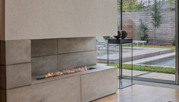 Modern Gas Fireplace by European Home