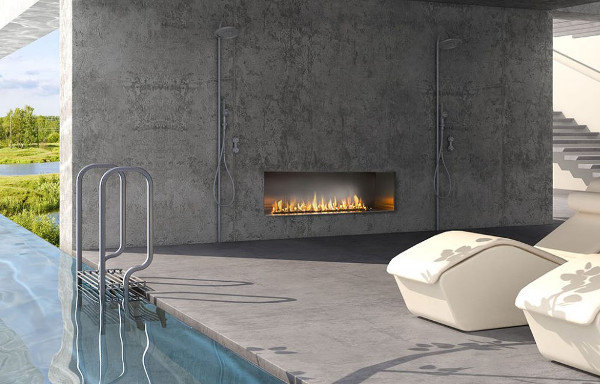 Modern Outdoor Gas Fireplace by European Home