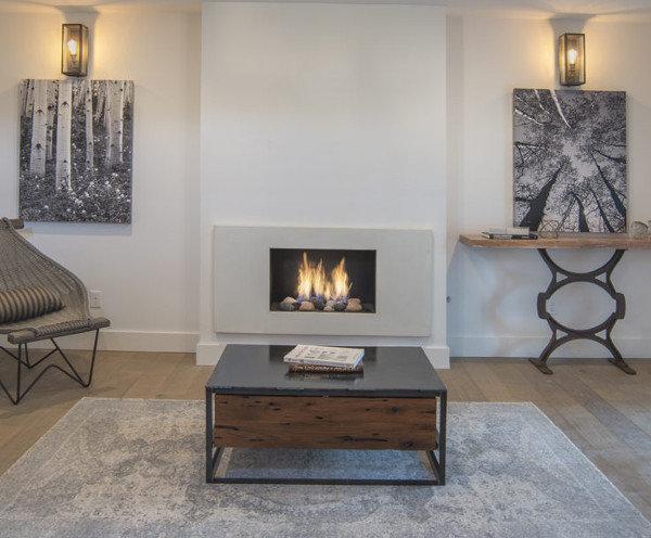 Modern Gas Fireplace by Gavin Scott