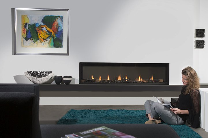 Modern Gas Fireplace by Element4