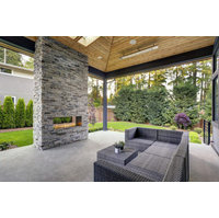 Modern Outdoor Gas Fireplace by European Home  image