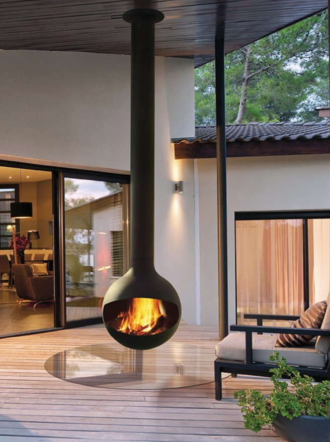 Outdoor Wood-Burning Fireplaces by Focus Fires