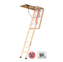 Non-Insulated Wooden Attic Ladders image