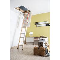Insulated Wooden Attic Ladder image