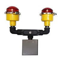 Pole Mounted Dual Red Obstruction Light image