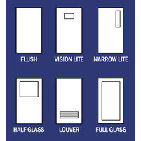 Standard Door Elevations - Metal Doors image
