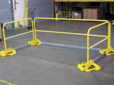 Non-Penetrating Safety Guardrail System
