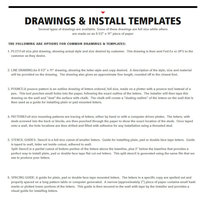 Drawings & Install Templates image