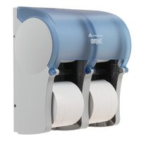 GP Compact Quad® Splash Blue Vertical Four Roll Coreless Tissue Dispenser image