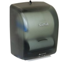 GP SofPull® Translucent Smoke Mechanical Water Resistant Hardwound Roll Towel Dispenser image