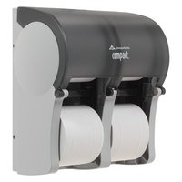 GP Compact Quad® Translucent Smoke Vertical Four Roll Coreless Tissue Dispenser image