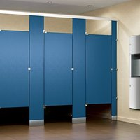 Solid Plastic HDPE Polymer Toilet Partitions image