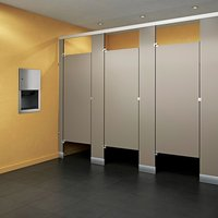 Black Core Phenolic Toilet Partitions image