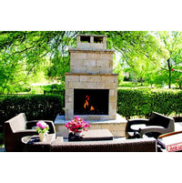 OUTDOOR GAS LOG FIREPLACE image