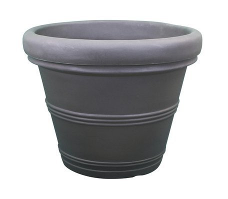 Brunello Poly Resin Rolled Rim Planter