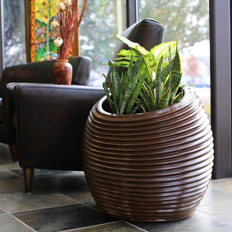 Spiral Indoor/Outdoor Round Planter