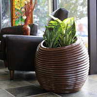 Spiral Indoor/Outdoor Round Planter  image
