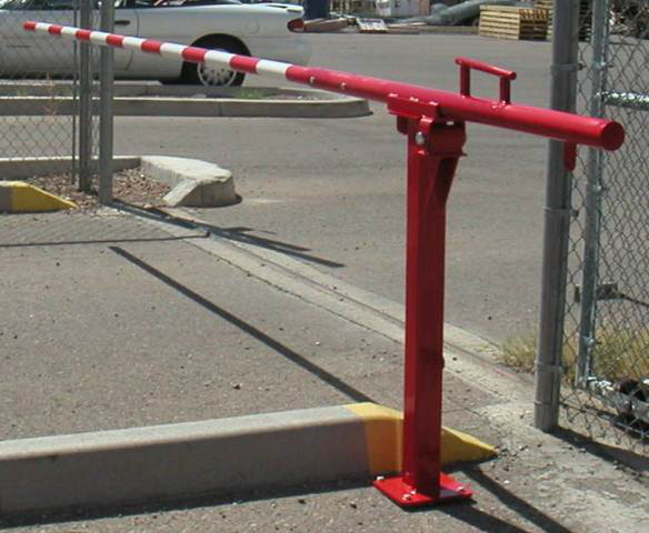 Manual lift barrier gate in ground image