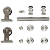 Sliding Door Hardware - Stainless Barn Door Wall Mount image