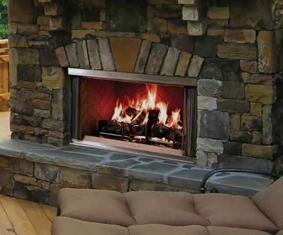 Wood Outdoor Fireplaces - Traditional