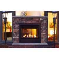 Gas Outdoor Fireplace - Modern image