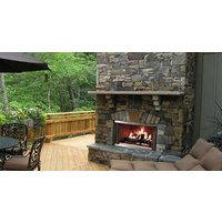 Wood Outdoor Fireplaces - Traditional image